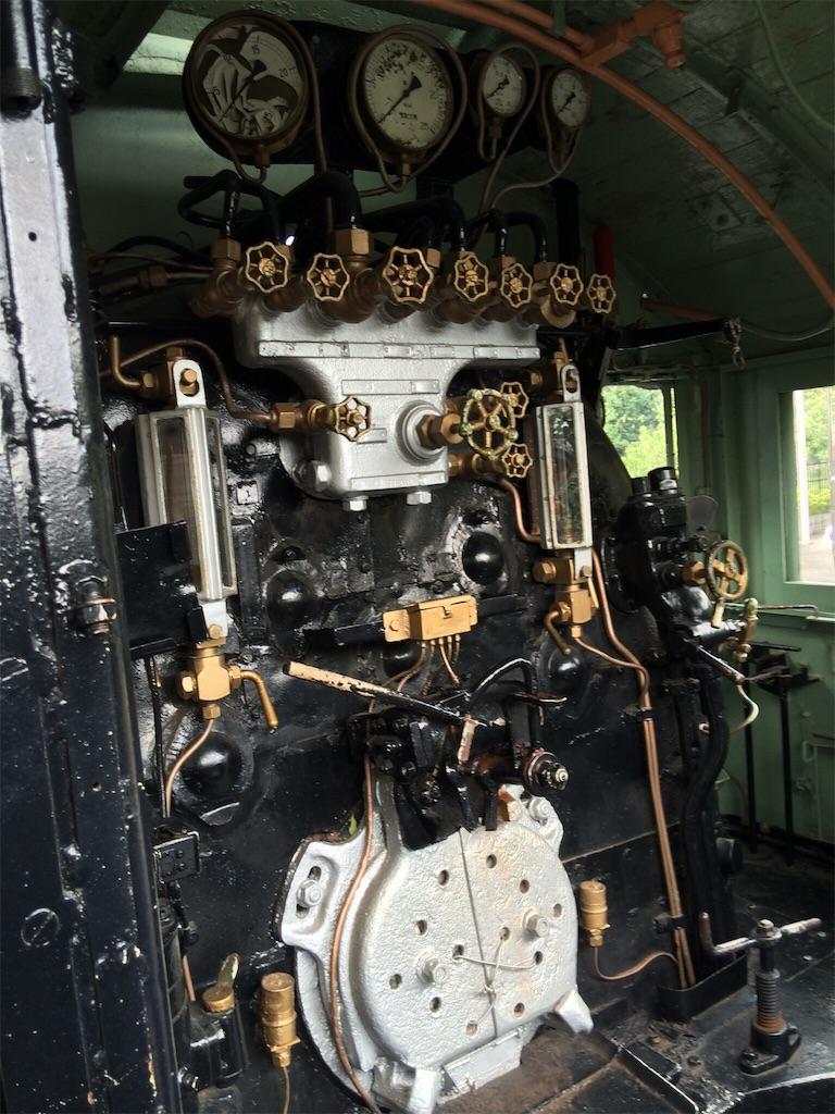 蒸気機関車 運転室内