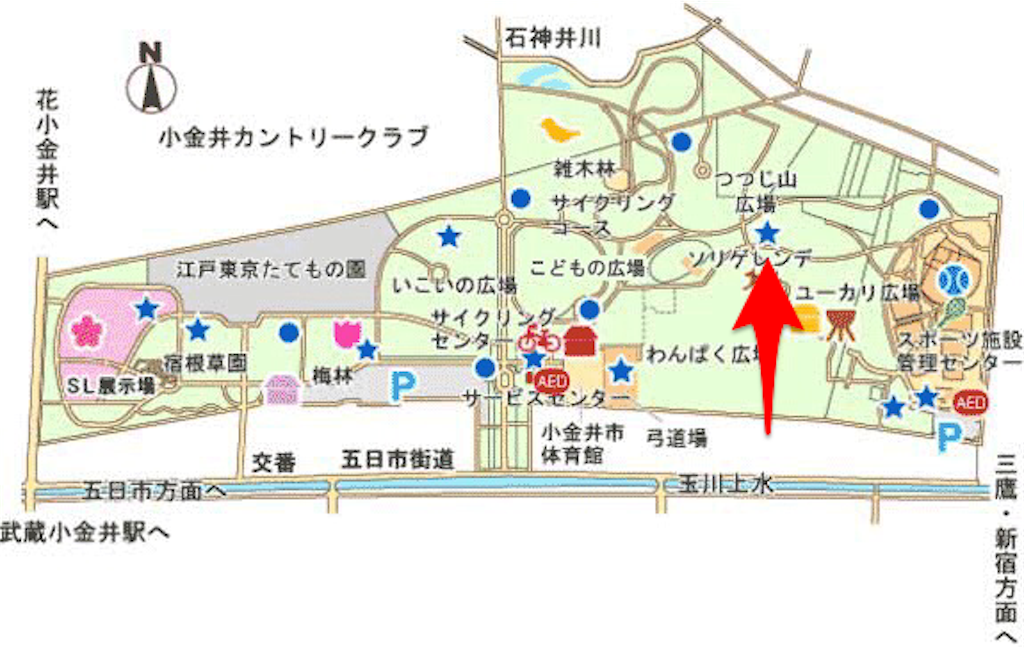 小金井公園 地図