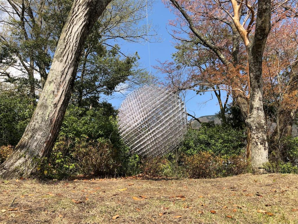 箱根彫刻の森美術館 フランソワ・モルレ 網目の球体