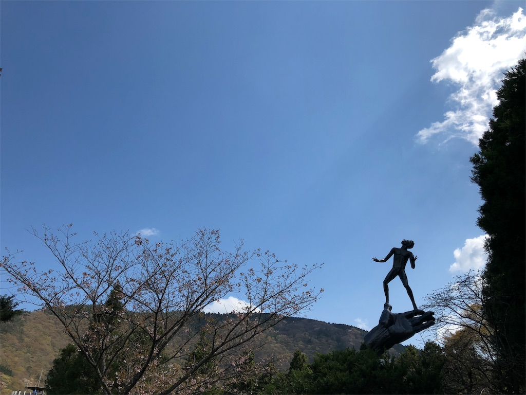 箱根彫刻の森美術館 カール・ミレス 神の手