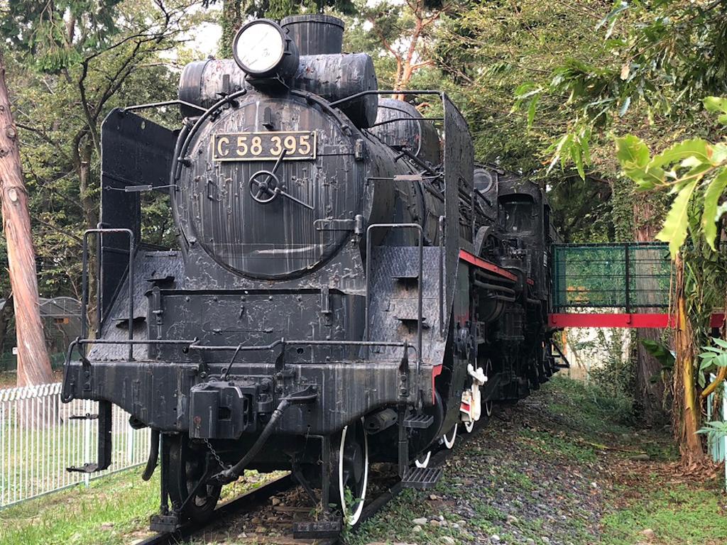 羽村市動物公園 C58形蒸気機関車