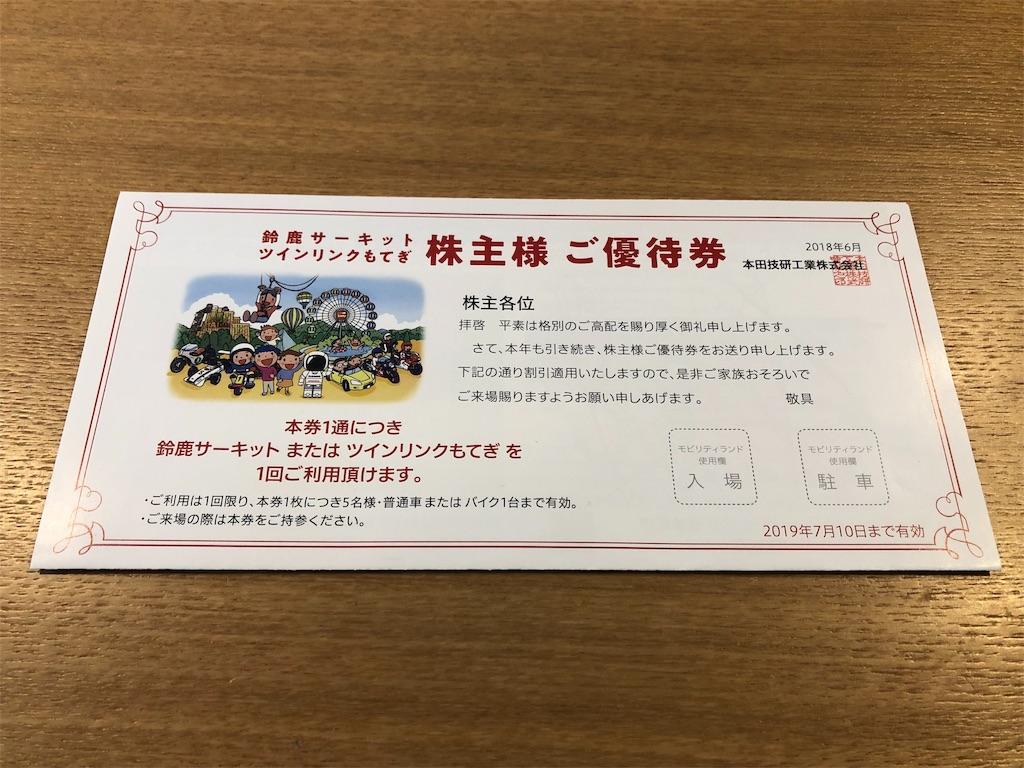 本田技研工業株式会社 株主優待券