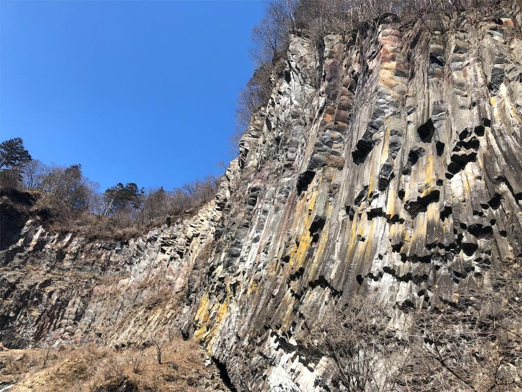華厳の滝 岩肌