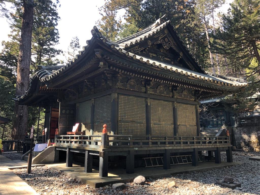 日光東照宮奥社 拝殿
