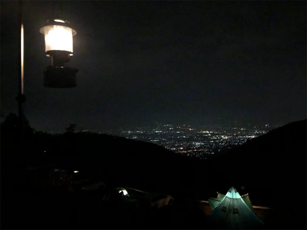 ほったらかしキャンプ場 夜景