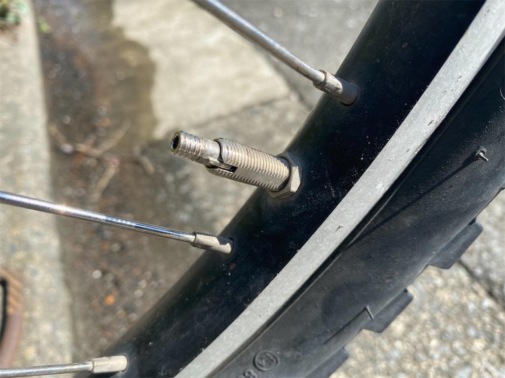 自転車 虫ゴム交換