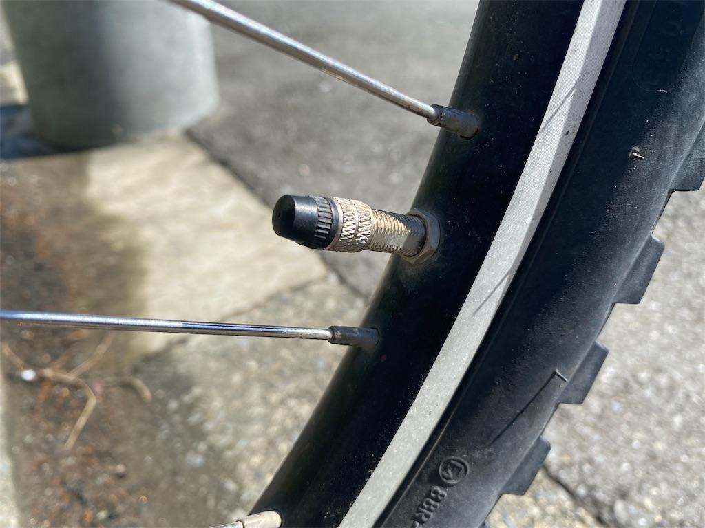 自転車パンク 虫ゴム