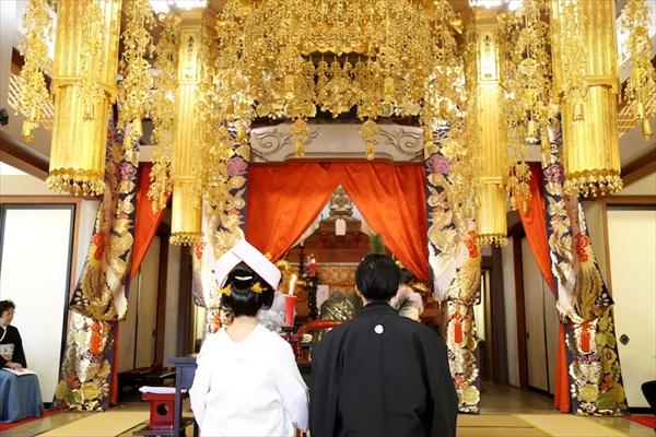 長谷寺での仏前結婚式