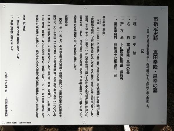 真田幸隆、真田昌幸の墓の説明