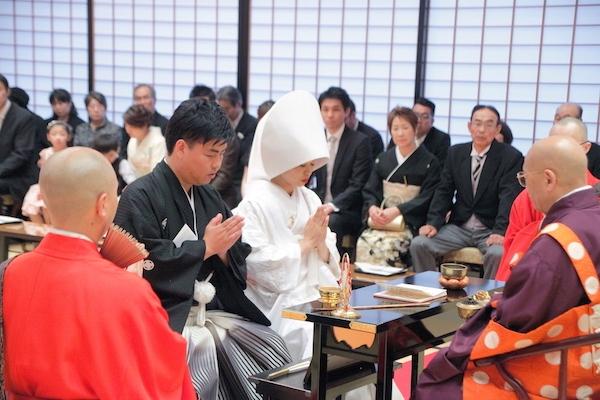 善光寺での仏前結婚式