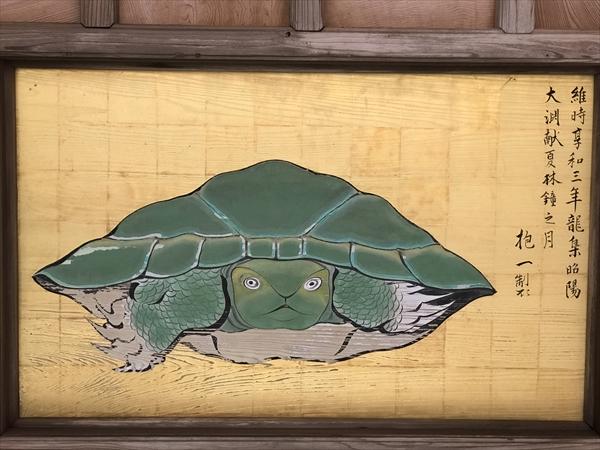 江島神社 八方睨みの亀の図