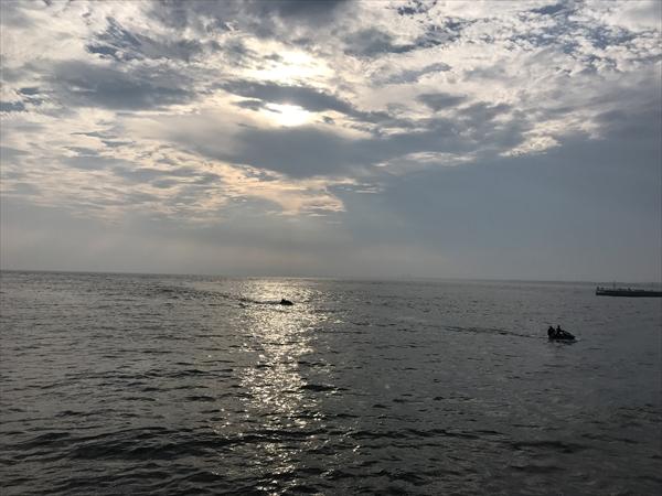 相模湾と夕日