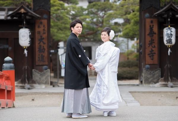 善光寺大勧進にて結婚式