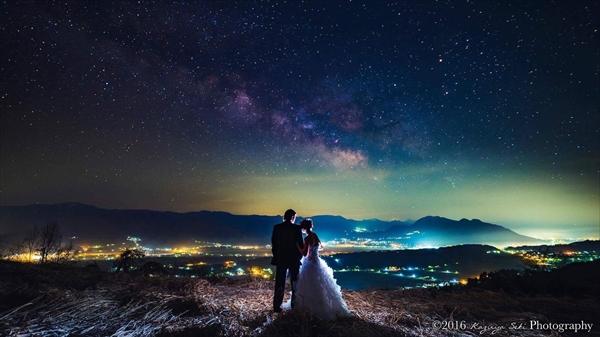 星空&夜景でフォト