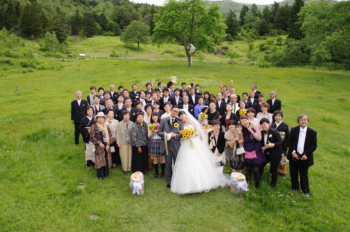 山田牧場で結婚式