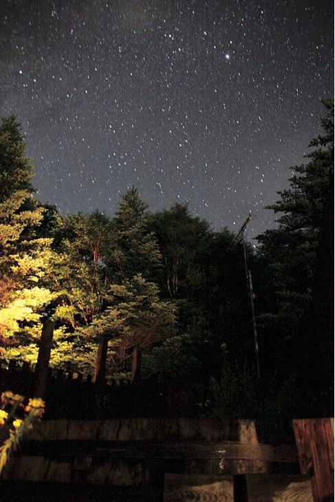露天風呂から見る星空