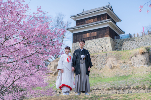 上田城址公園の桜の画像