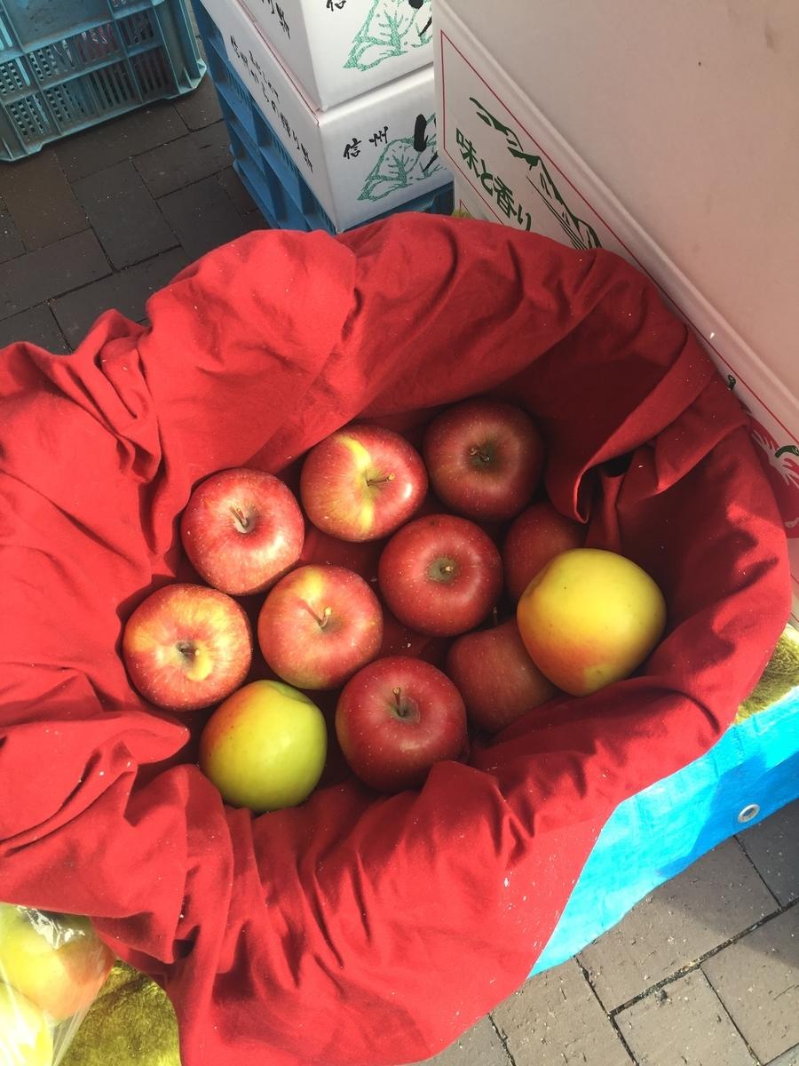 りんごの直売