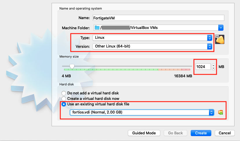VirtualBox-FortiGate