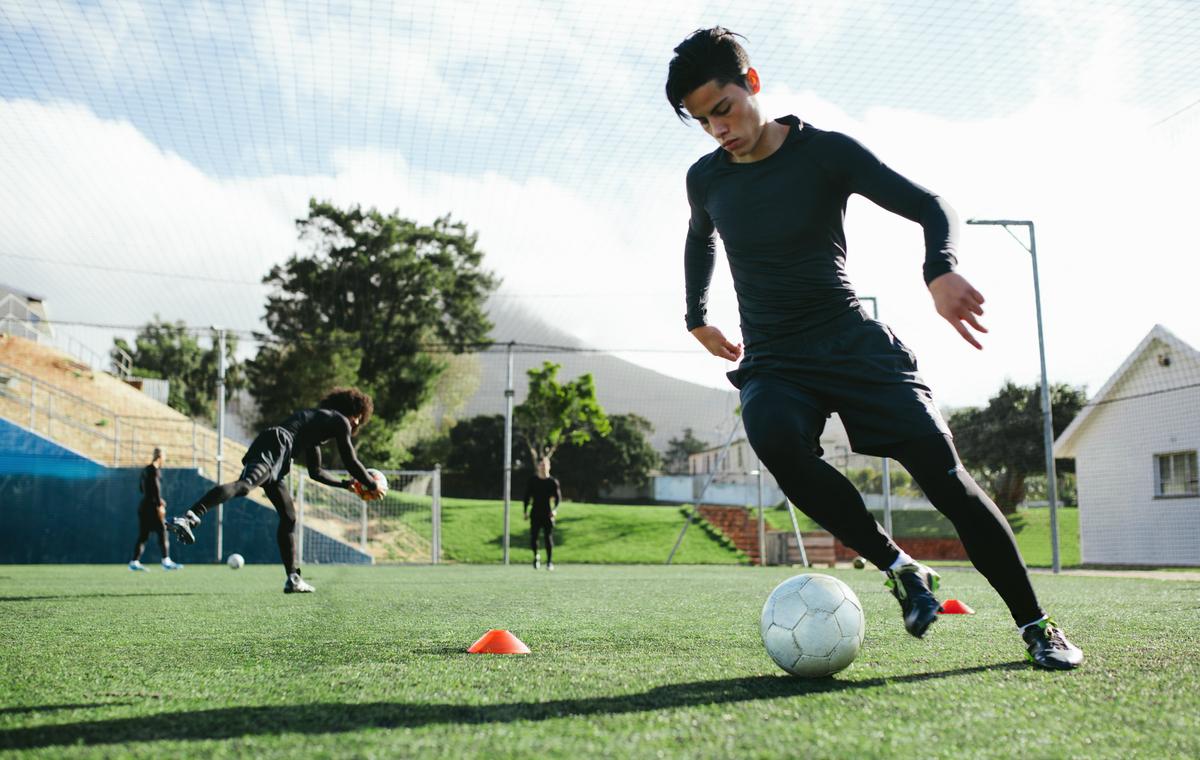 サッカー選手のアジリティテスト