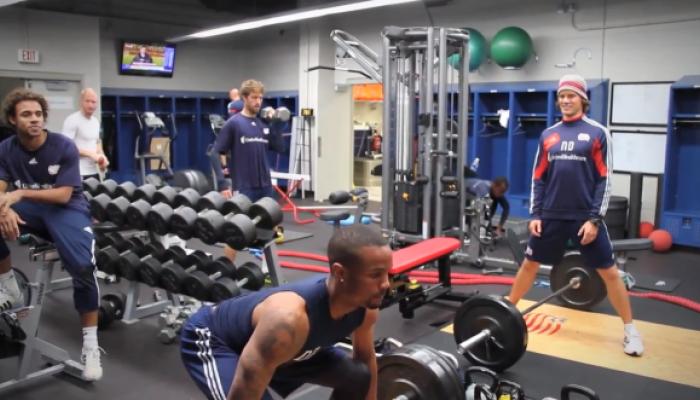 サッカー選手の筋力トレーニング