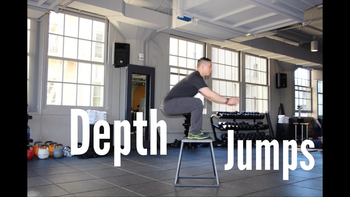 デプスジャンプの応用(DJの開始時の高さを上げることは、償却局面の時間を短縮するために有効であるとされ、償却局面の短縮は、SSCの促進とプライオメトリック効果の増大をもたらす)