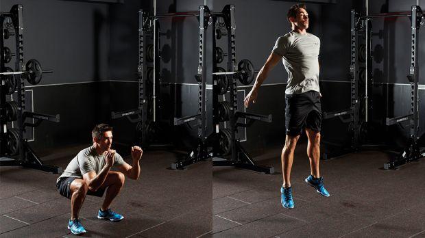 スクワットジャンプとRFD(膝を110°と150°に屈曲させてSJを行った男性アスリートが、同じ膝の関節角度で等尺性筋活動やCMJを行った場合に比べ、最も大きなRFD(RFDmax)を達成した)