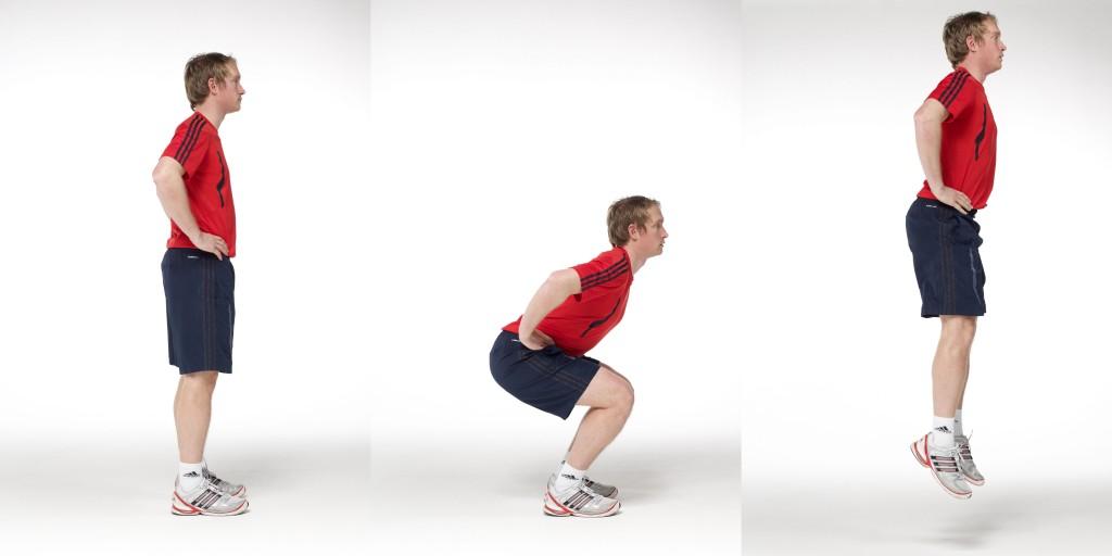 CMJの応用(筋線維(タイプⅡ)を動員するためには、高閾値(外部負荷>85%1RM)で刺激され、神経系のより大きな動員をもたらすエクササイズは、短時間で身体の変位をもたらす大きな力発揮をもたらす)