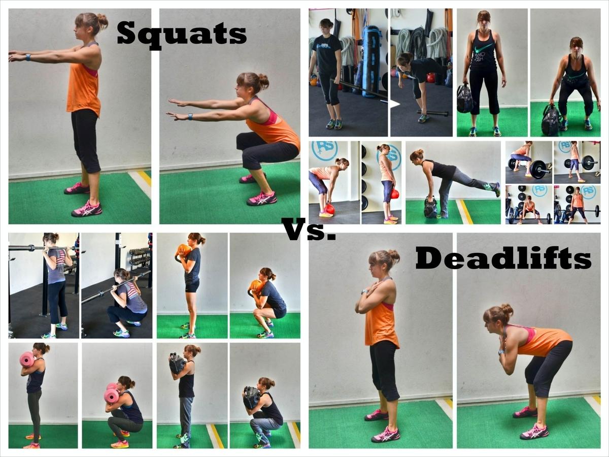 スクワットはデッドリフトと同等に効果的なのか(スクワットとデッドリフトの間の運動パターンとリフティングの運動力学(バーの位置と握力)の相違により、筋力を産生する要因{筋の動員と選択、筋張-張力関係、引く動作の筋の角度}が異なる)