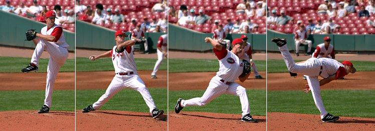 野球肘とピッチングメカニクス(若年野球投手の肘内側に加わる力は最大64.6Nに達し、肘外反ピークトルクは肩関節が最大外旋する直前に最大になる)