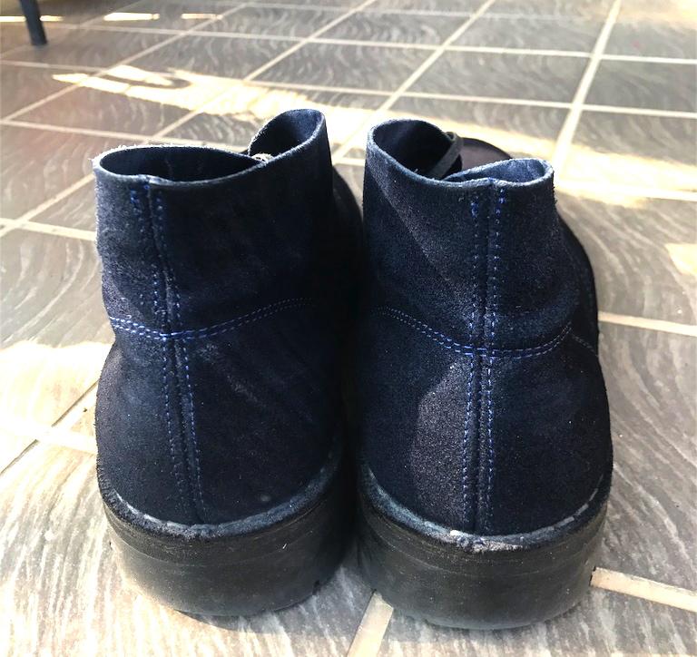 ブーツ ネイビー ソール