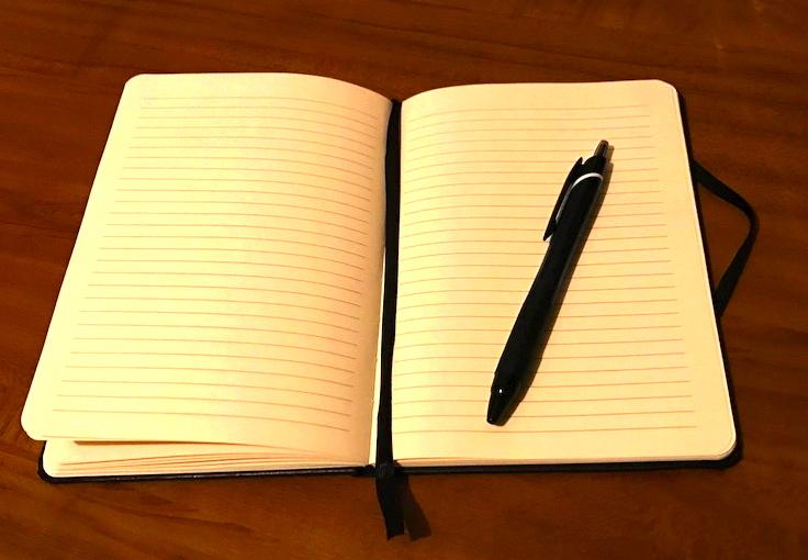 ノート 見開き