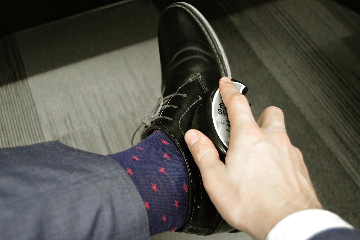 革靴 ソックス ブラック