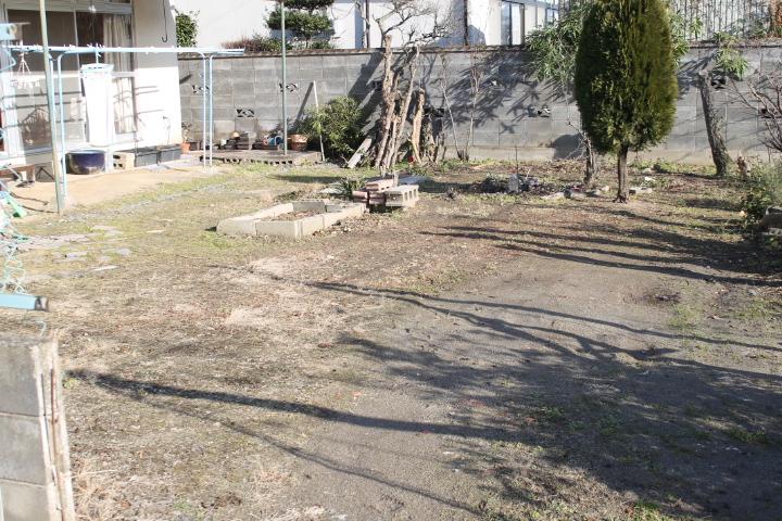 広くなった庭