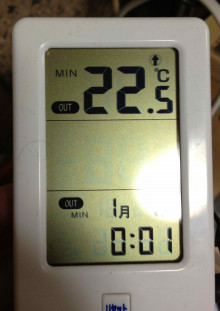 ケージ内最低温度