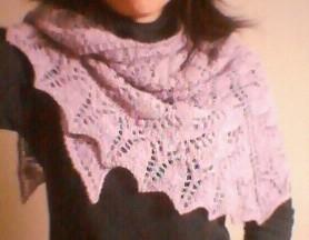 swallowtail shawl 着てナンボ