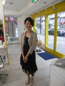 2009/03/20、美容院にて。