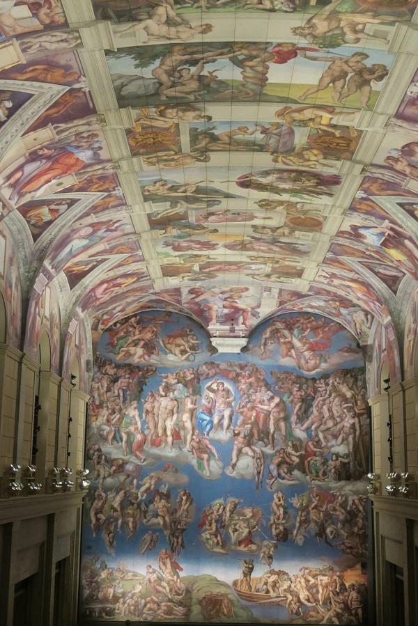 システィーナ礼拝堂のミケランジェロ作