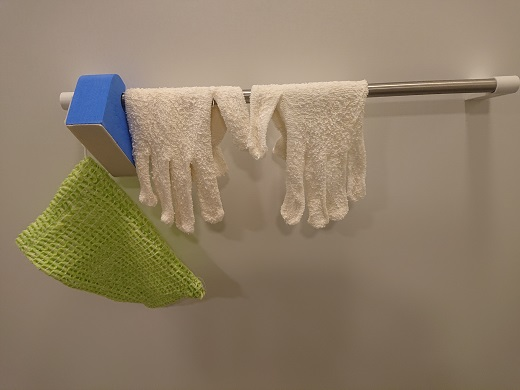 浴用手袋の干し場所