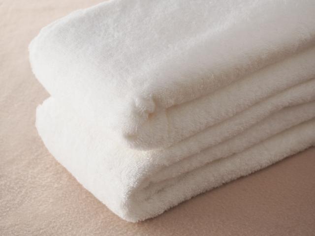 白いタオル