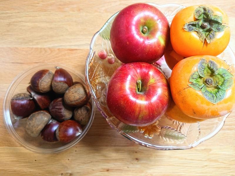 栗 紅玉 柿