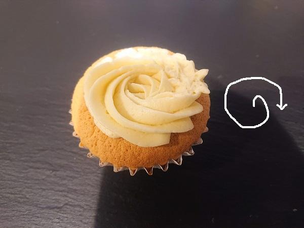 カップケーキ絞り