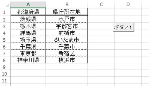 Excel サンプルで使用したシート