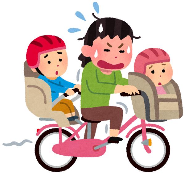 子供乗せ電動自転車 イラスト