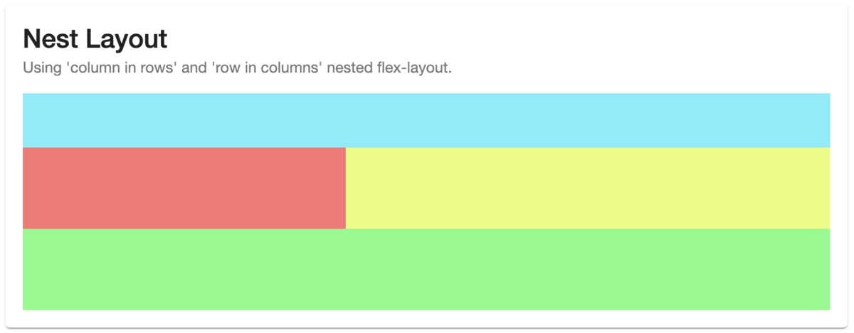 flex-layout outline