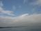 秋の空と防波堤。。。