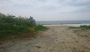 行き止まり横に海が広がる