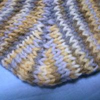 靴下引き返し編み。