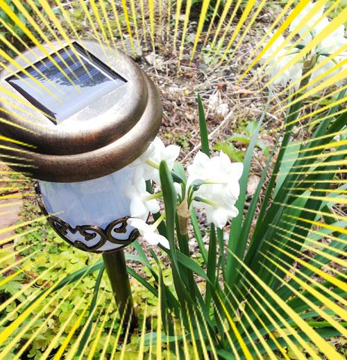 セフティー3 ガーデンソーラーライト アンティーク調LEDライト フル充電8時間点灯 自動点灯 SSL-4