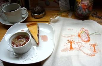 刺繍Cafe zozoi cafeにて